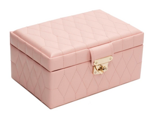 CAROLINE SMALL JEWELRY CASE/ ROSE QUARTZ