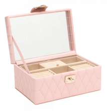 Load image into Gallery viewer, CAROLINE SMALL JEWELRY CASE/ ROSE QUARTZ