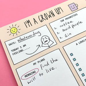 Daily Planner for Grown Ups!