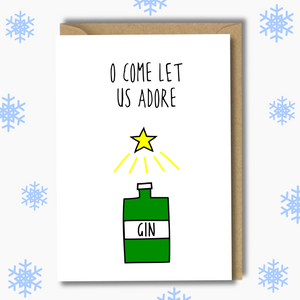 Adore Gin Greetings Card