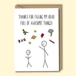 Awesome Teacher Greetings Card