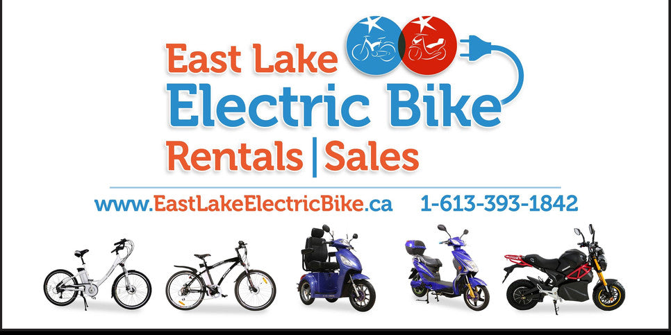 The Beast or Eagle Electric Scooter/Bike at East Lake Bike, Picton, Ontario