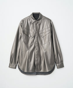 SYNTHETIC LEATHER WESTERN SHIRT