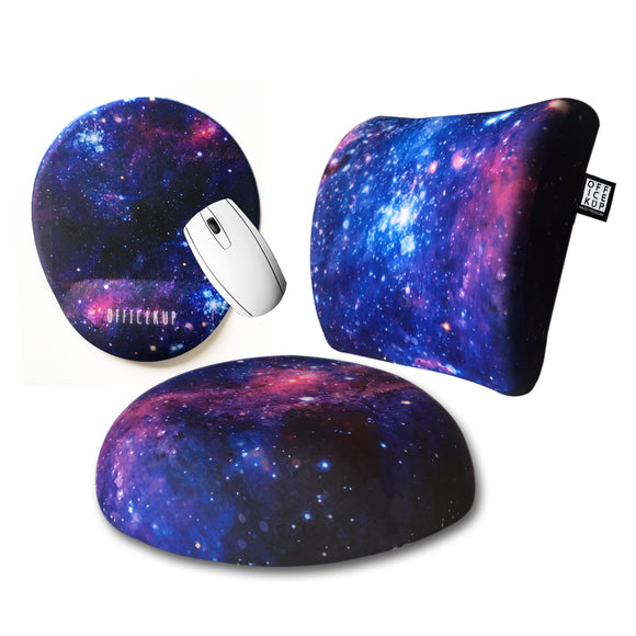 Galaxy Visco Bel Yastığı Visco Oturma Minderi Mouse pad 3'lü Set