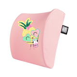 Ananas Visco Yastık Visco Oturma Minderi Mouse pad 3'lü Set Pembe