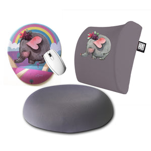 An Elephant Bee Visco Yastık Visco Oturma Minderi Mouse pad 3'lü Set