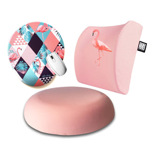 Cotton Candy Flamingo Visco Yastık Visco Oturma Minderi Mouse pad 3'lü Set