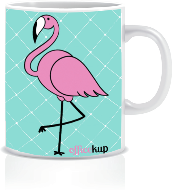 Flamingo Porselen Kupa