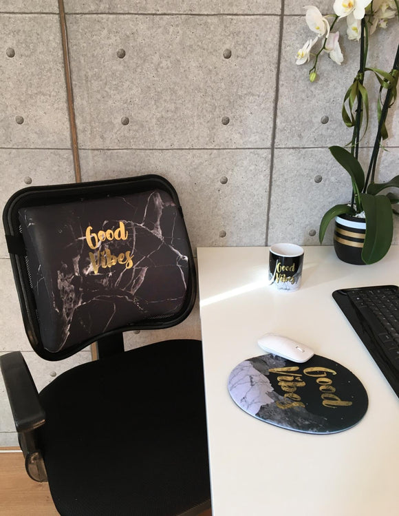 Good Vibes Visco Bel Yastığı Mouse pad Kupa 3'lü Set