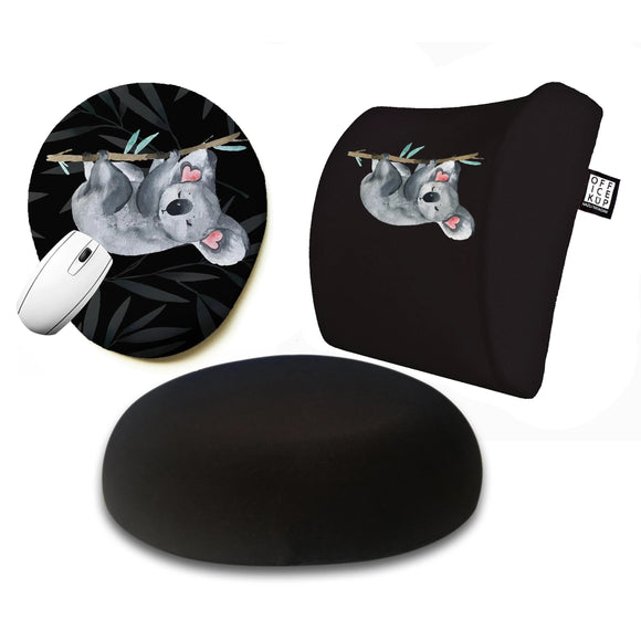 Koala Visco Yastık Visco Oturma Minderi Mouse pad 3'lü Set