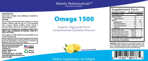 Omega 1500 - One Month Supply