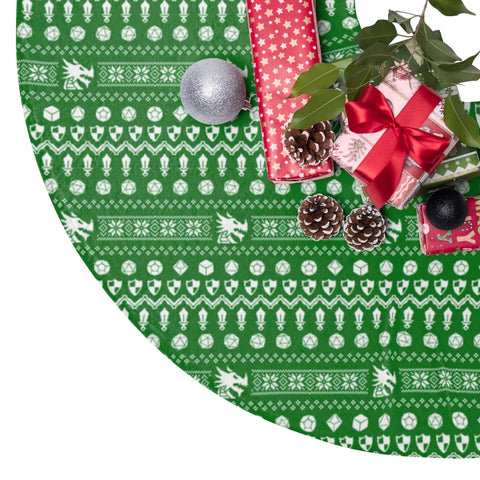 RPG Christmas Tree Skirt (green)