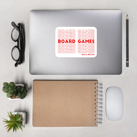 Board Games: Have A Nice Day Sticker (Red)