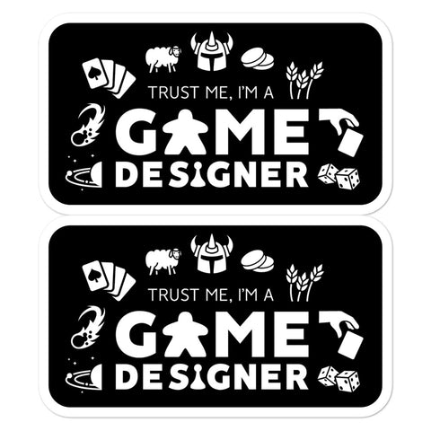 Trust Me, I'm A Game Designer Stickers (2 Dark)