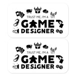 Trust Me, I'm A Game Designer Stickers (2 Light)
