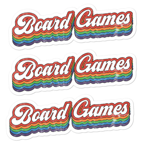 Board Games Stickers (3 Dark)