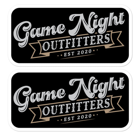 Game Night Outfitters Stickers (2)