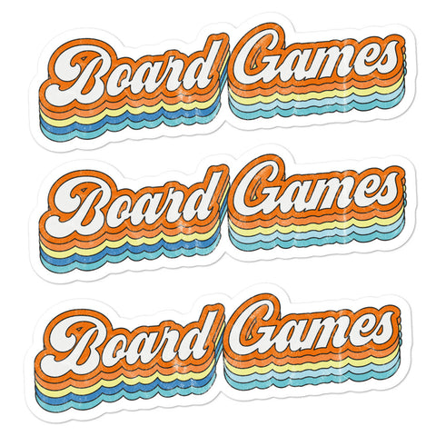 Board Games Stickers (3 Light)