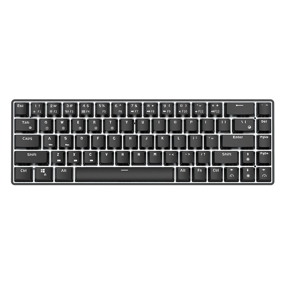 68 Keys Wireless Bluetooth Mechanical Gaming Keyboard - bestgamingandoffice