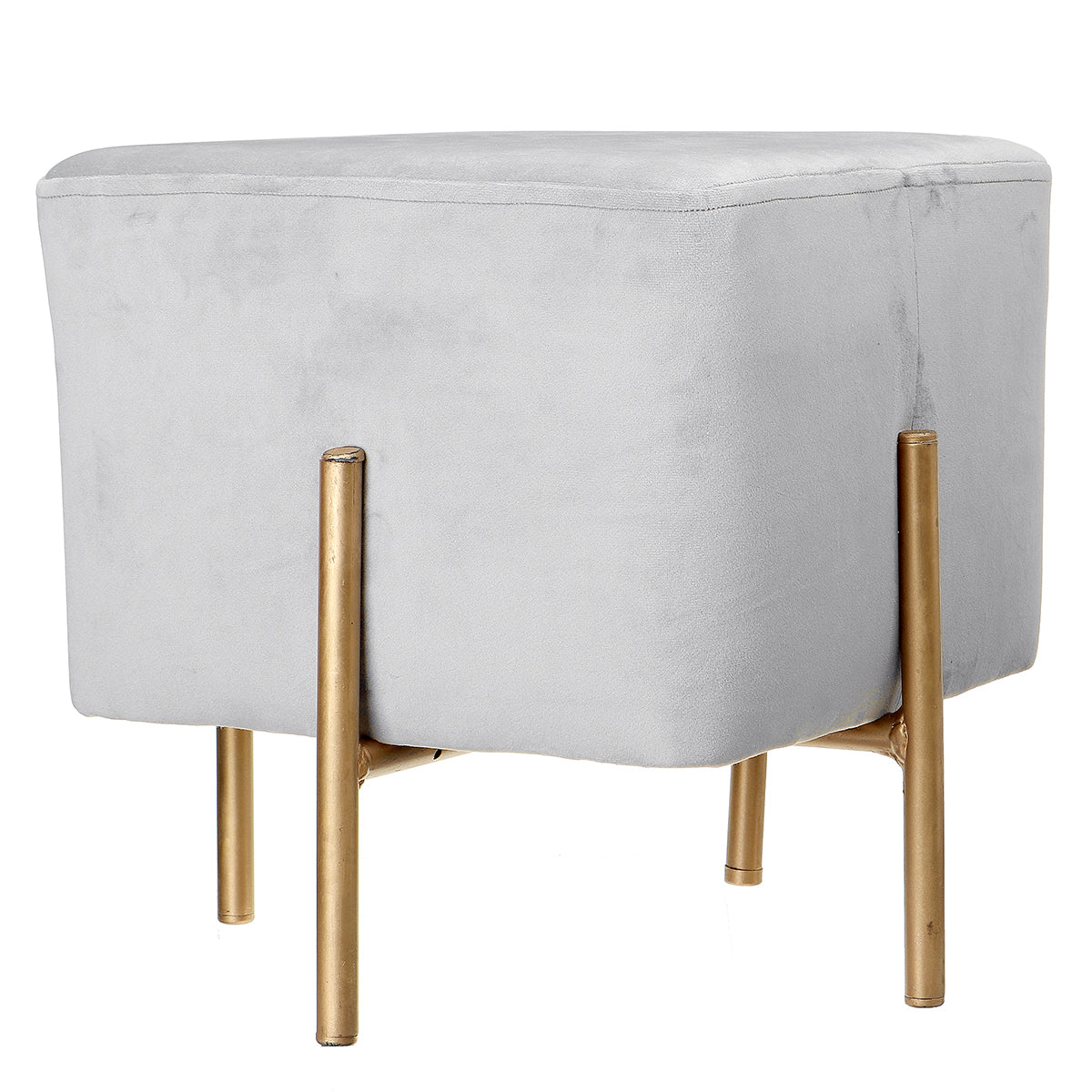 Velvet Cubic Stool Fabric Shoe Bench Seat Stool Modern Chair Ottomans Sofa - bestgamingandoffice