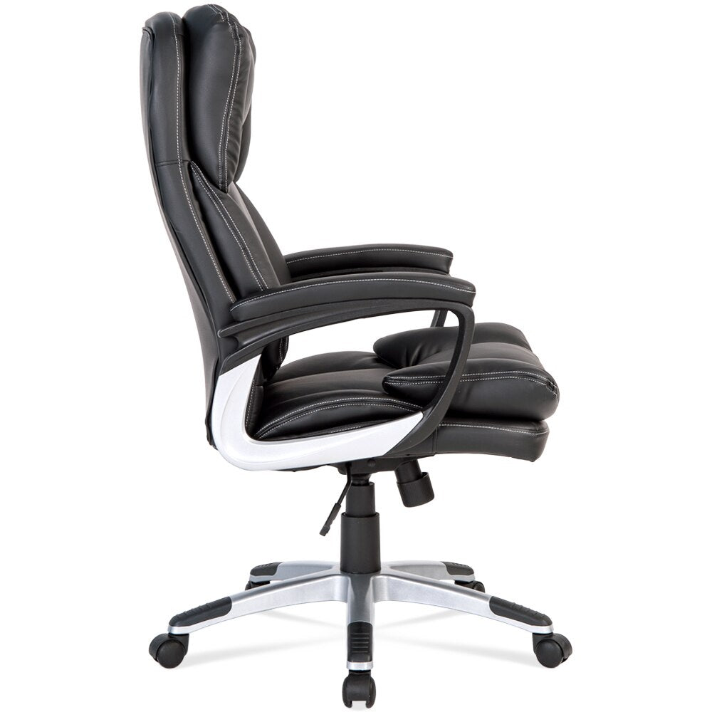 Black PU leather office executive game high back chair exquisite - bestgamingandoffice
