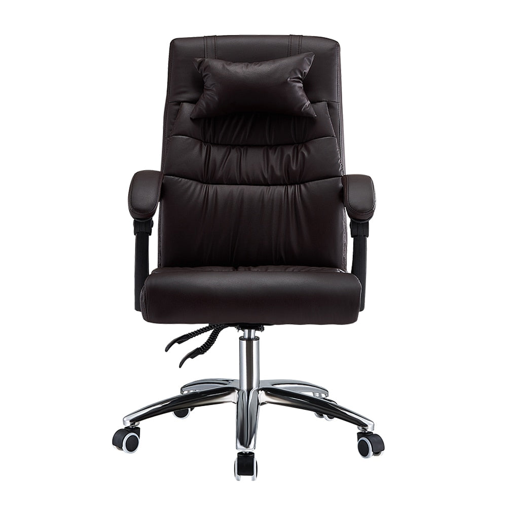 Adjustable Office Chair Ergonomic High-Back Faux Leather Reclining Chairs - bestgamingandoffice