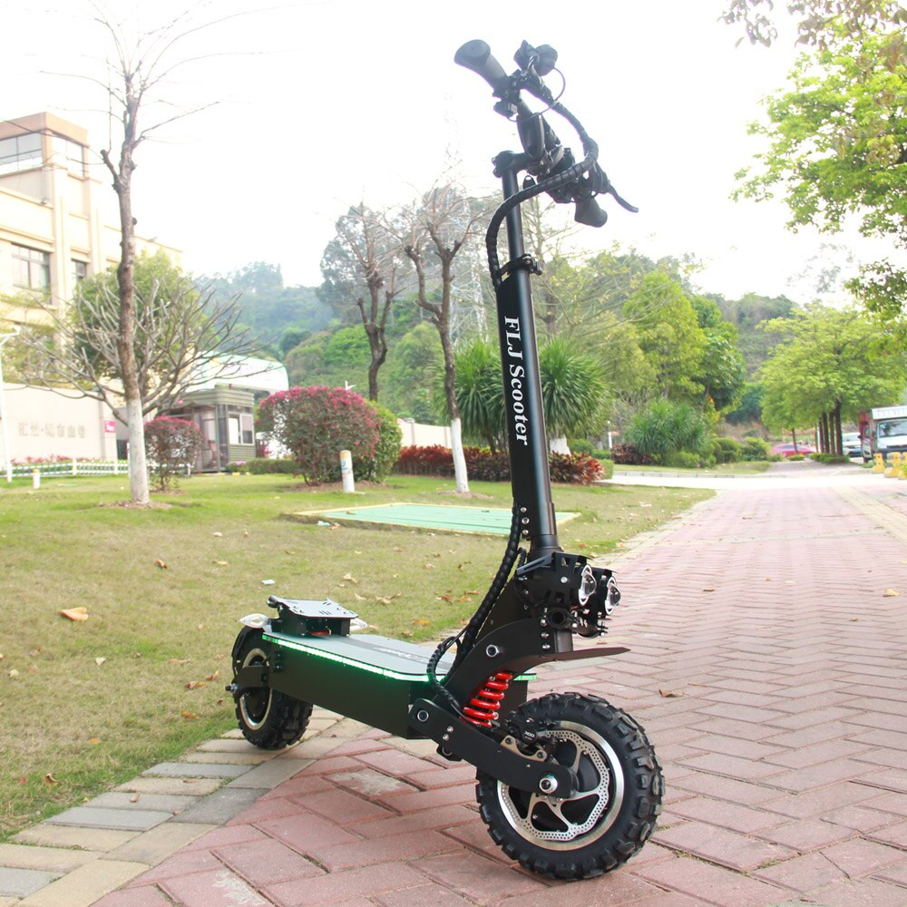 FLJ 72V 7000W Electric Scooter with Dual motors engines acrylic led pedal Top Speed E Bike Scooter electrico - bestgamingandoffice