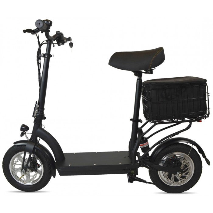 M6 ELECTRIC SCOOTER WITH SEAT, CARGO BAG, SUSPENSION & KEY