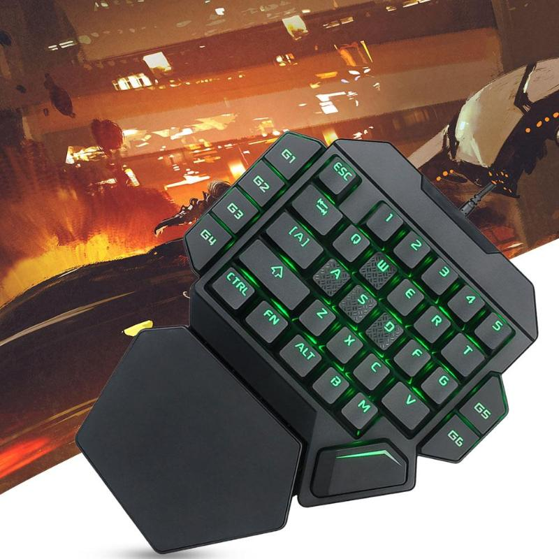 USB Wired One-Handed Gaming Keyboard - bestgamingandoffice