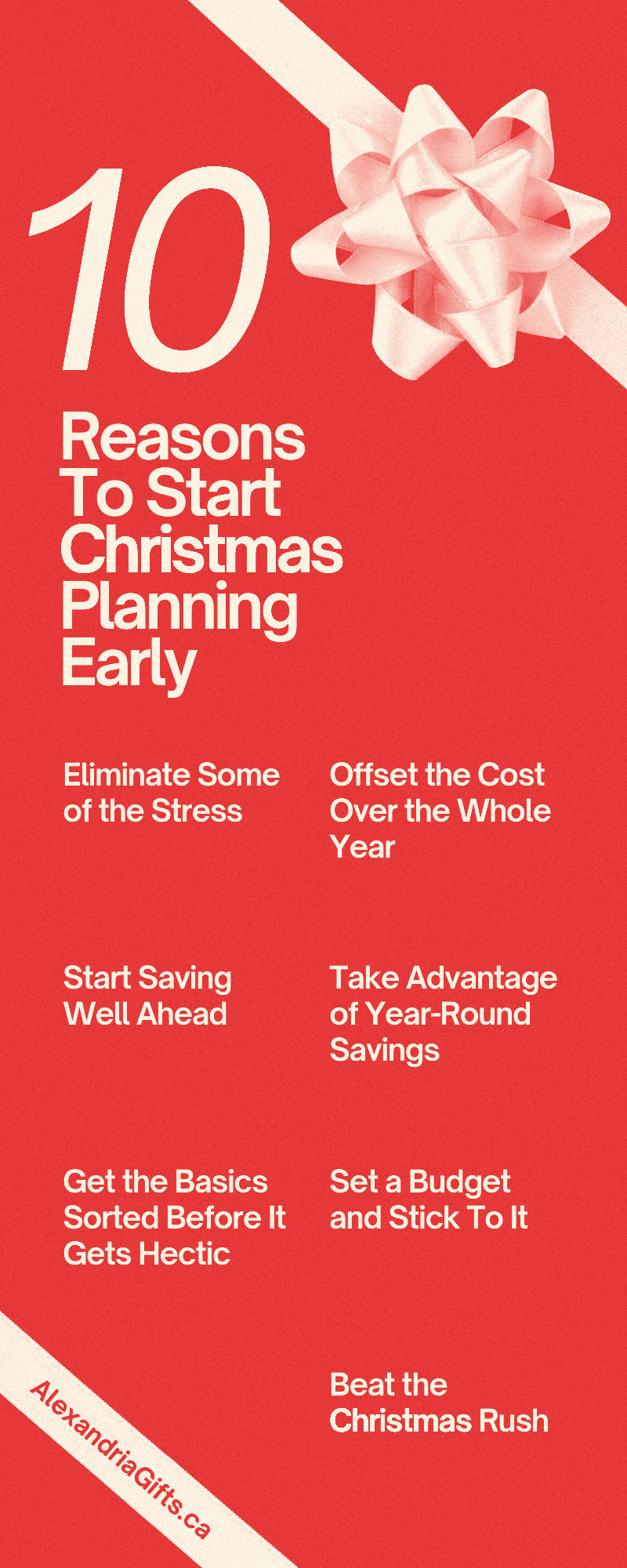 10 Reasons To Start Christmas Planning Early