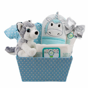 Husky for Baby Gift Basket