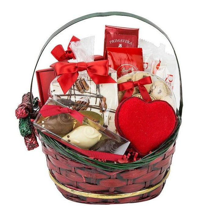 Valentines Red Gift Basket