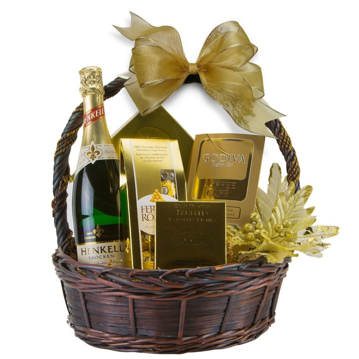 Valentine's Day Gift Basket - Golden Delight