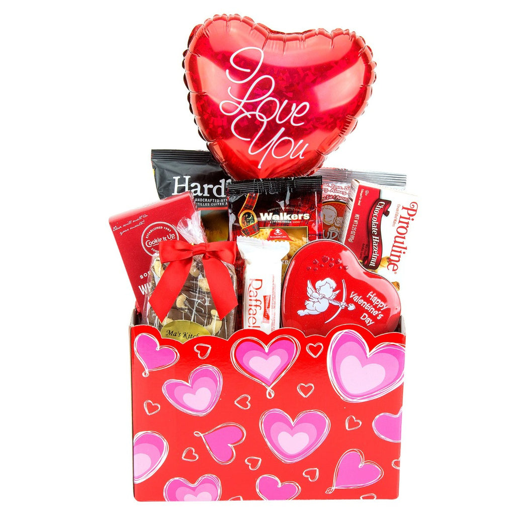 Valentine's Day Gift Basket - Happy Valentines