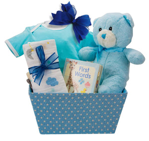 Welcome Baby Boy Gift Basket