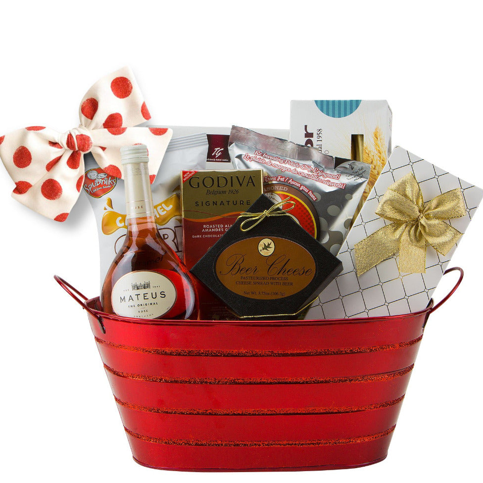 Mateus Rose Gift Basket