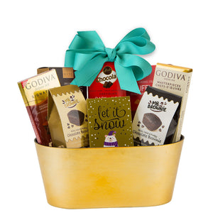 Christmas Gold Gift Basket