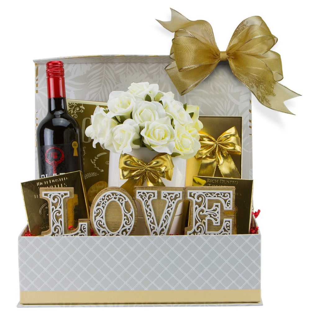 Valentine's Day Gift Basket - Wine