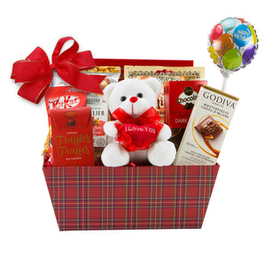 Teddy for B-day Gift Basket