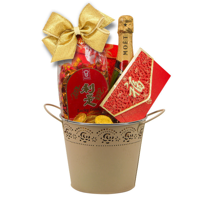 Lucky Moet Chinese New Year Gift Basket