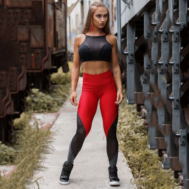 Women Leggings for Fitness Women Workout Jeggings Mesh Push Up Leggings High Waist Female leggins Mujer