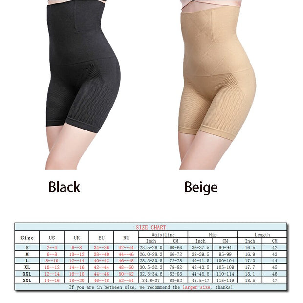 High Waist Honeycomb Seamless Fat Stomach Butt Lift Waist Trainer Boxer Body Shaping Underwear Women Large Size Safety Panties