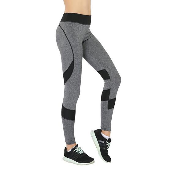 Women Solid Patchwork Training Gym Legging Running Fitness Leggings Waist Breathable Yoga Elastic Sport Pants High Leggings
