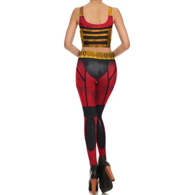 Arrival Women Leggings Digital Print Golden Metal Belt Pattern Fitness Leggins Ripple Workout Plus Size Legging