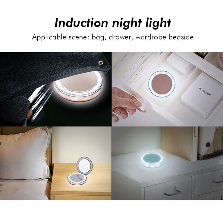 LED Lighted Vanity Travel Mirror