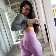 Sexy Push Up Fitness Leggings Women Pants High Waist Sporting Leggins Workout candy color Leggings Pockets S-XL