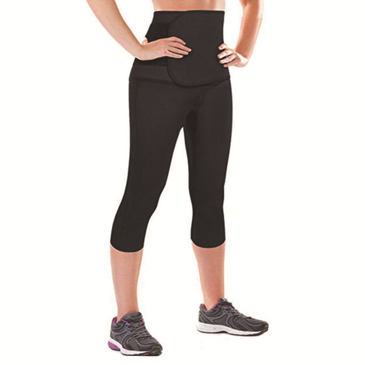 Waist Shaper Sweat Pants Strong Tummy Control Sport Fitness Waist Trainer Slimming Short Neoprene Sweat Shapewear Legs Slimmer