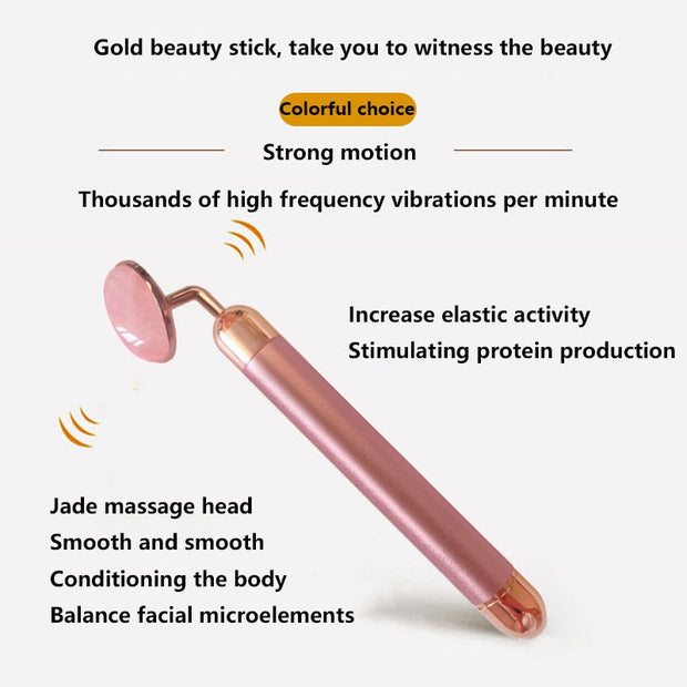 Electric Rose Quartz Roller
