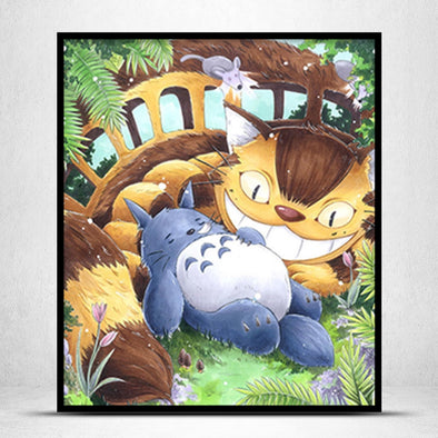 My Neighbor Totoro-11CT Stamped Cross Stitch -56x66cm