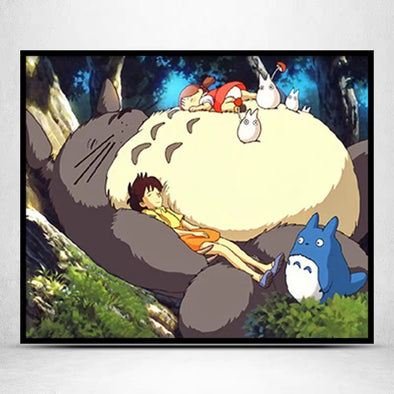 My Neighbor Totoro-11CT Stamped Cross Stitch -66x56cm